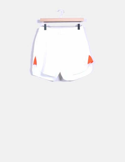 Shorts blanco laterales fluor