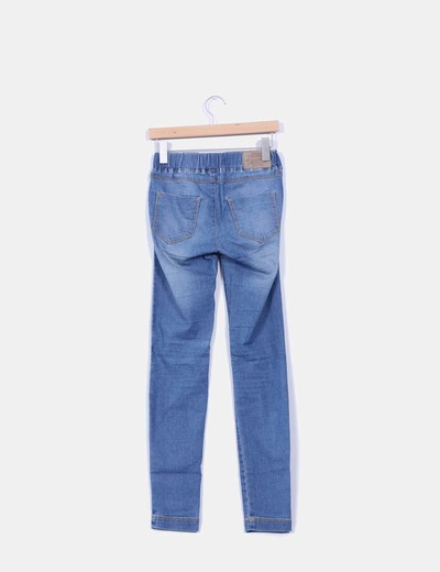 Jeggins denim azul medio