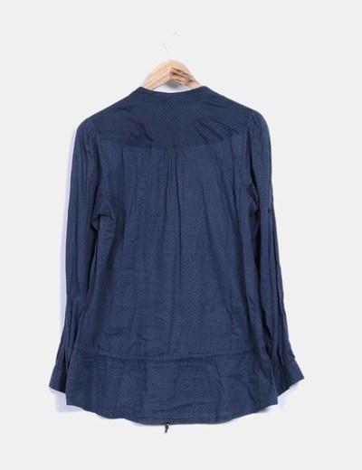 Camisa azul petroleo print