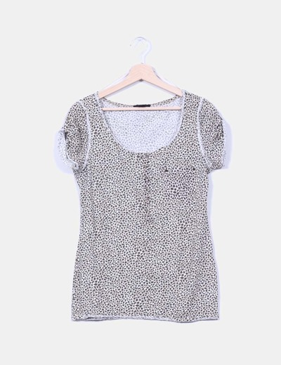 Camiseta estampada animal print H&M