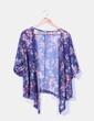 Kimono morado semitransparente floral Ms mode