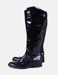 Bottes noires hautes en cuir de brevets Fosco
