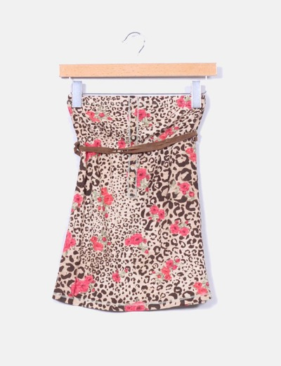 Top palabra de honor leopardo Bershka