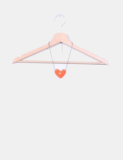 Collar naranja corazón NoName