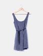 Vestido azul de rayas texturizado Zara