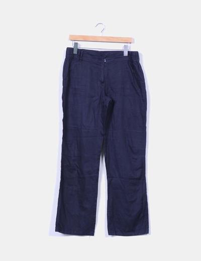 Pantalón azul marino recto In Extenso