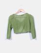 Torera verde de ganchillo Vero Moda