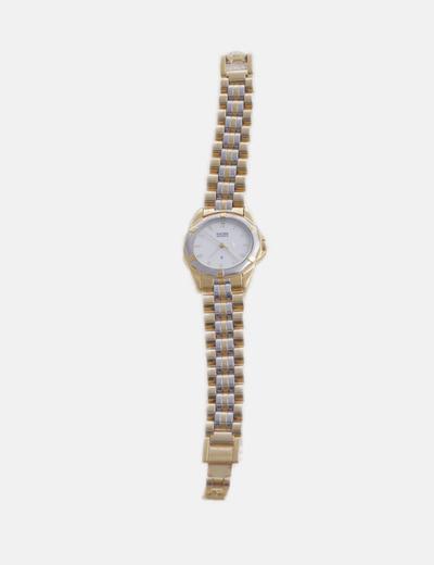 Reloj combinado dorado y plateado