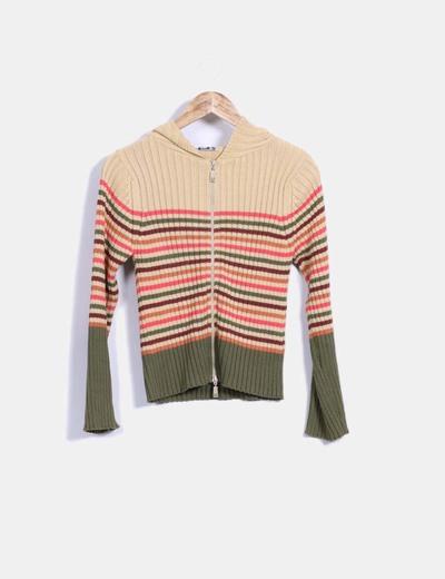 Sudadera tricot de rayas Adolfo Dominguez