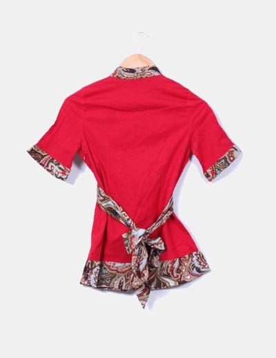 Camisa roja estampado cachemira
