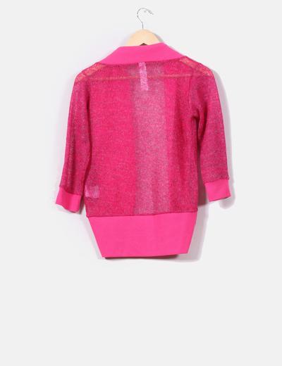 Chaqueta punto rosa fucsia
