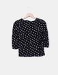Suéter negro topos blancos Zara