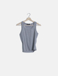 Camiseta gris canalé tirantes Moda Volcan