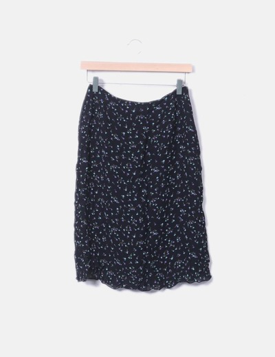 Chiffon skirt with floral print Cortefiel