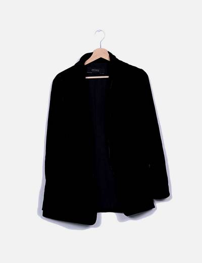 Blazer terciopelo negro Zara