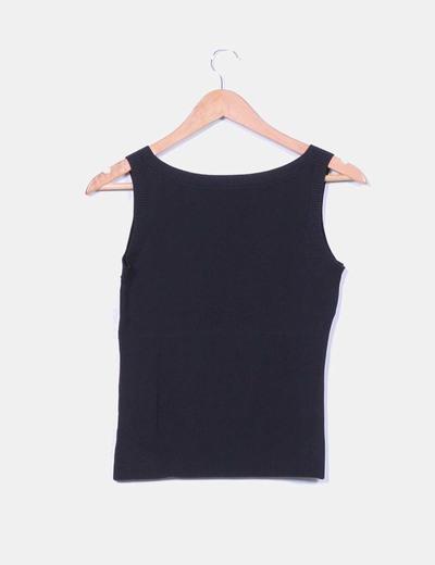 Chaleco tricot negro
