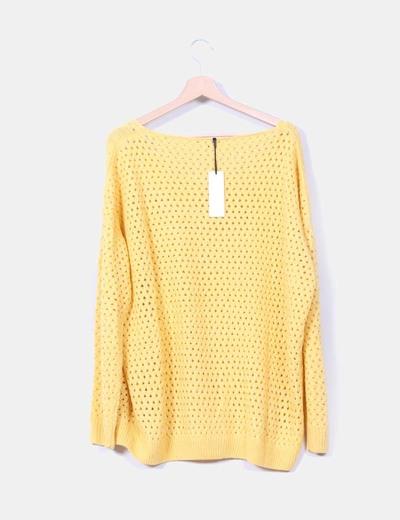 Jersey troquelado amarillo