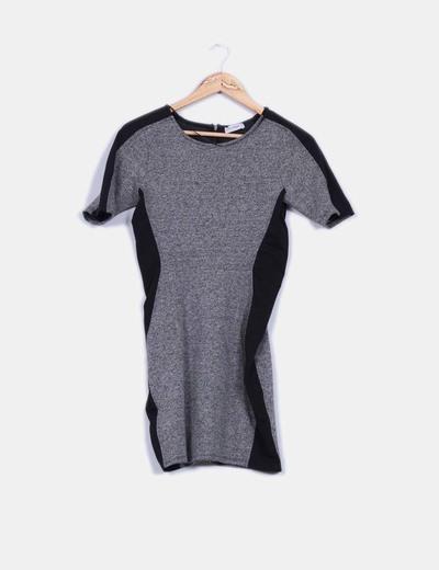 Vestido ajustado texturizado  bicolor  Pull&Bear