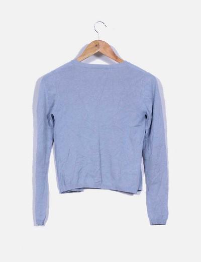 Cardigan azul grisaceao
