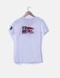 Camiseta blanca print texto Geographical Norway