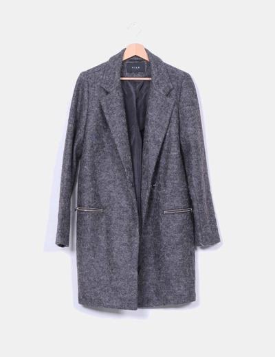 Abrigo boyfriend de lana gris
