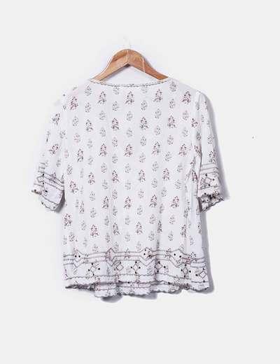86d7bc7e7 Promod Blusa blanca estampada (descuento 47%) - Micolet