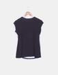 Camiseta negra combinada encaje Morgan