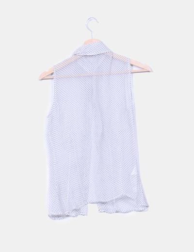 Blusa con chorrera de seda