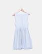Vestido blanco tablas estampado topos Pull&Bear