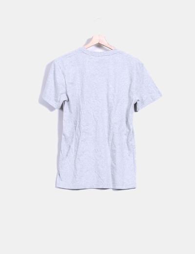 Camiseta gris jaspeada print insolente