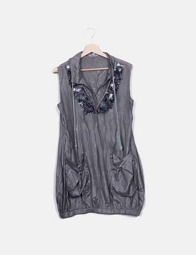 Vestido gris irisado Fashion Elle
