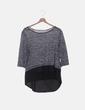 Camiseta gris jaspeada combinada C&A