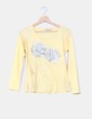 Camiseta amarilla flores plateadas Modaland