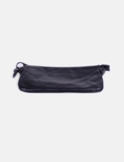 Portefeuille noir rectangulaire Mango