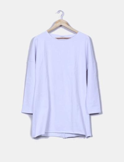 Vestido algodón blanco espalda abierta Sheinside