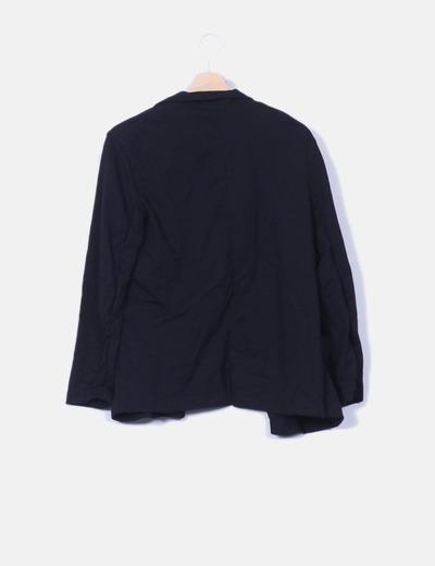 Blazer negro con bolsillos