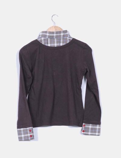 Camisa combinado tricot