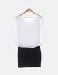 Vestido de gasa blanca combinado Pimkie