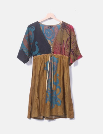 Vestido estampado multicolor