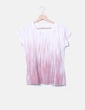 T-shirt blanc rayé Skunkfunk