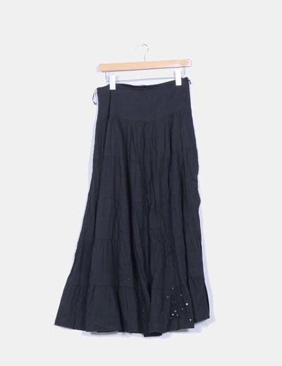 Falda negra con palettes  Bershka