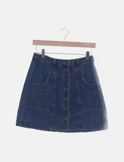 Mini falda denim