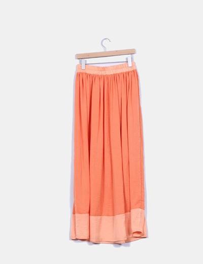 Maxi falda naranja