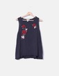 Camiseta bordada floral Amisu