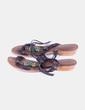 Sandalia marrón de tiras con abalorios Gios Complementos