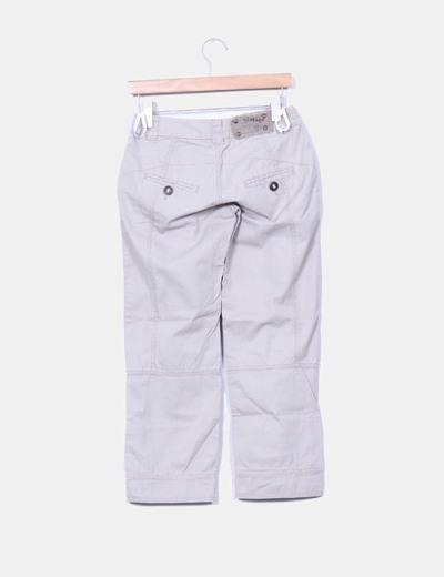 Pantalon capri taupe