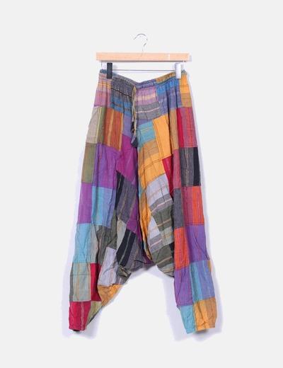 Pantalón harem multicolor NoName