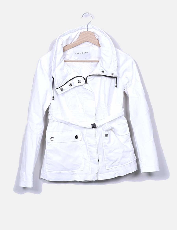 c7d09c3f727 blanca Gabardina y de con online Abrigos Chaquetas baratos Mujer Zara cinto  pd4d1wx ...