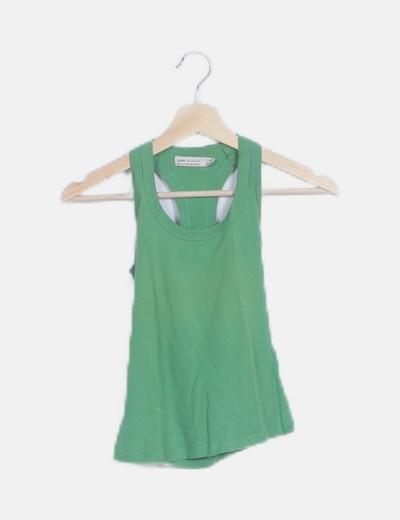 Camiseta verde tirantes