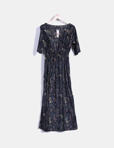 el precio se mantiene estable apariencia estética calidad confiable Vestido de terciopelo estampado floral